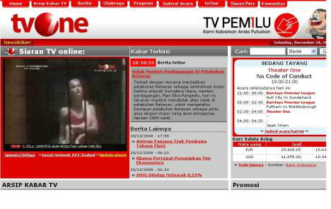Streaming politik di tv one gratis